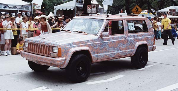 art car weekend 2002 parade winners second place painted car